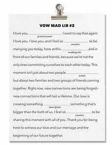 Fill In The Blank Vows Template
