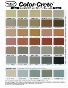 concrete sting color chart garden pinterest