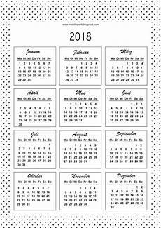 Free Printable Bullet Journal Templates 2018 Calendar