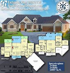 one level craftsman house plans plan 24392tw one story country craftsman house plan with