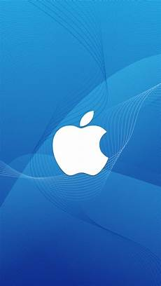 iphone wallpaper blue white white apple logo with blue wave background iphone 6 6