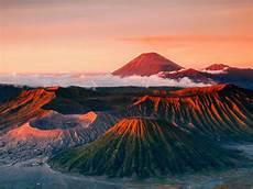 Herbst Malvorlagen Jakarta Indonesien Java Tenger Vulkan Berge Landschaft Nebel