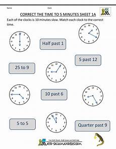 time worksheet class 5 2955 clock worksheet correct the time to 5 minutes 1a time worksheets 2nd grade worksheets clock