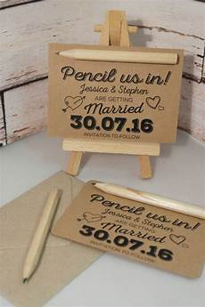 details about from 15p each pencil us in diy save the date cards kraft brown white