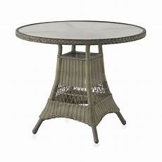table ronde jardin 10340 table ronde de jardin 90 cm aluminium et r 233 sine tress 233 e brin d ouest
