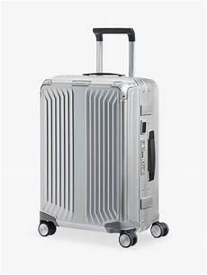 samsonite lite box 55cm 4 spinner wheel aluminium suitcase