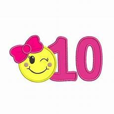 Emoji Malvorlagen Count Emoji With A Number 10 Applique Design