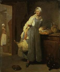 The Kitchen Jean Baptiste Simeon Chardin by Jean Baptiste Simeon Chardin Working Painting