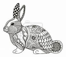 kaninchen zentangle stilisiert vektor illustration