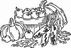 autumn fruit vegetables coloring page wecoloringpage