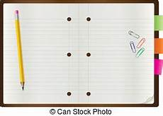 notepad blank page and stationery 1 vector illustration eps vector search clip art