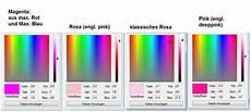 unterschied pink rosa pink oder rosa oder magenta farbe unterschied