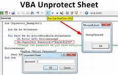 vba unprotect sheet use vba code to unprotect excel with password
