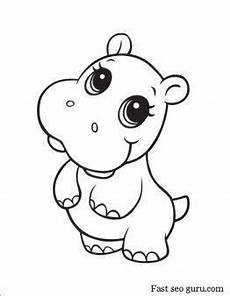 druckbare baby hippo malvorlagen in 2020 mit bildern