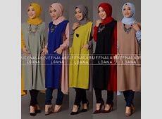 baju kerja wanita muslim modern model terbaru online loana