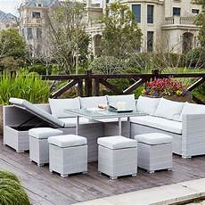 gwandi gris blanc salon de jardin encastrable en r 233 sine