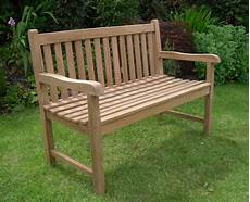 Solid Teak 2 Seat Chunky Park Garden Bench Sale Now On