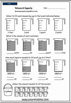 measurement area and volume worksheets 1628 measuring capacity using different units mathematics skills interactive activity