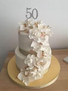 Fondant Torte Kindergeburtstag - 50th birthday cake with fondant flowers cakecentral