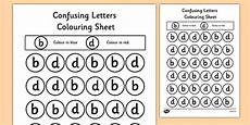 letter d and b worksheets 24192 confusing letters colouring worksheets b and d