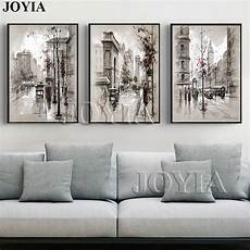living room wall painting home decor canvas wall vintage city landscape