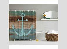 Nautical Anchor Rustic Wood Shower Curtain   Mildew