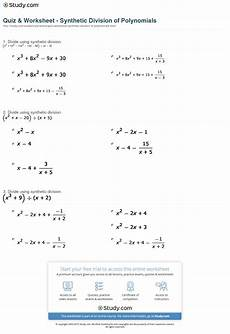 division of polynomials worksheets with answers 7014 quiz worksheet synthetic division of polynomials study