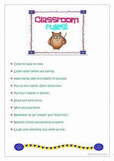 classroom rules worksheet free esl printable worksheets made by teachers