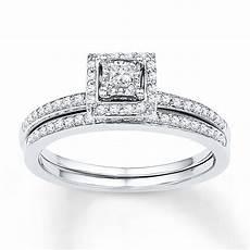 sterlingjewelers diamond bridal 1 4 ct tw princess cut 10k white gold