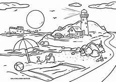 malvorlage landschaft strand kostenlose ausmalbilder