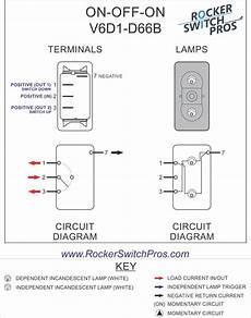 V6d1 Rocker Switch On On Spdt 2 Lights Rocker