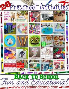 28 fun and educational preschool activities for back to school crystalandcomp com