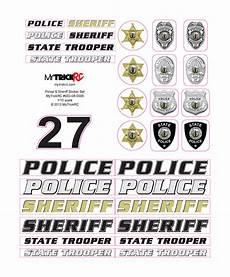 rc car sticker set rc sheriff car stickers