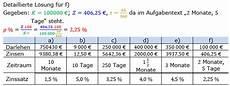 zinssatz berechnen in der zinsrechnung level 1 grundlagen