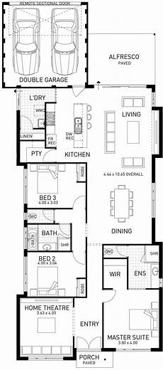 house plans for long narrow lots horizon narrow single storey floor plan wa single