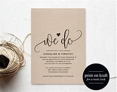 Rustic We Do Wedding Invitation