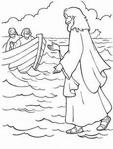 Ausmalbilder Umwelt Jesu Ausmalbilder Jesus Einzigartig Jesus Walks Water Coloring