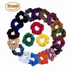 amazon 20 pack velvet hair scrunchies 9 99 reg 14 99