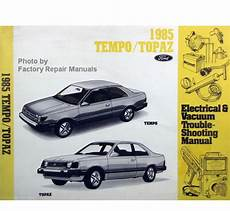 service manuals schematics 1985 ford tempo parking system 1985 ford tempo mercury topaz electrical vacuum troubleshooting manual evtm factory repair