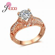 jexxi noble wedding rings entangled original brand trendy personality sign for best