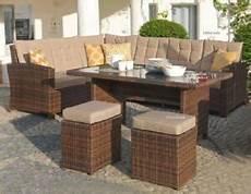 Gartenmöbel Set Rattan Günstig - garten sitzgruppe lounge set rattan gartengarnitur