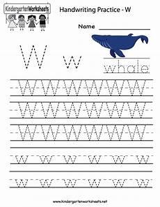 free handwriting worksheets for kinder 21766 kindergarten letter w writing practice worksheet printable writing practice worksheets