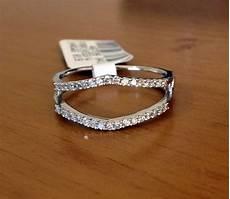 wedding ring solitaire enhancers 0 25 ct solitaire enhancer diamonds ring guard wrap 14k white gold wedding band ebay