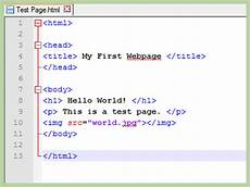 how to create a simple web page with html 187 vripmaster