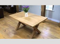 Provence 1 5m cross leg oak table   YouTube