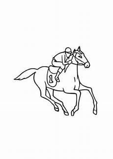 Ausmalbilder Pferde Geburtstag Ausmalbilder Rennpferd Nr 1 Pferde Malvorlagen