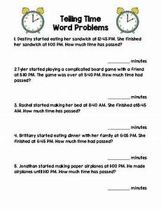 telling time worksheets word problems 3243 telling time word problems by mrs 2nd teachers pay teachers