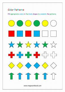 pattern worksheets color patterns growing patterns decreasing patterns repeating