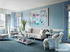 a 1920s house embraces the power of blue color inspiration 1920s house family room design