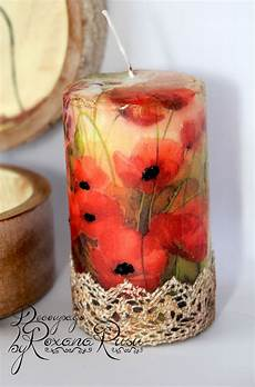 decoupage candele decoupage candle decoupage candles handmade candles
